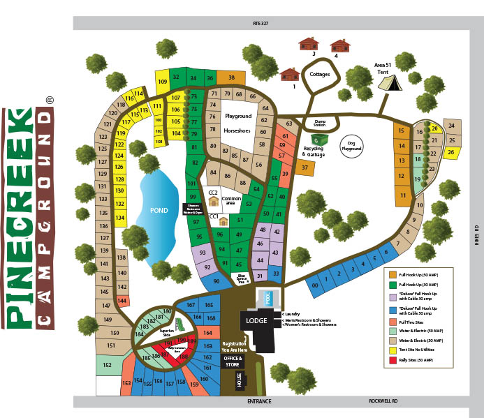 sitemap for pinecreek campground in ny